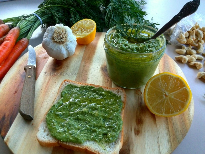 pesto-carrots-bread