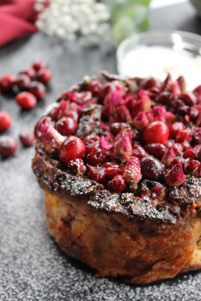 bread pudding-close up