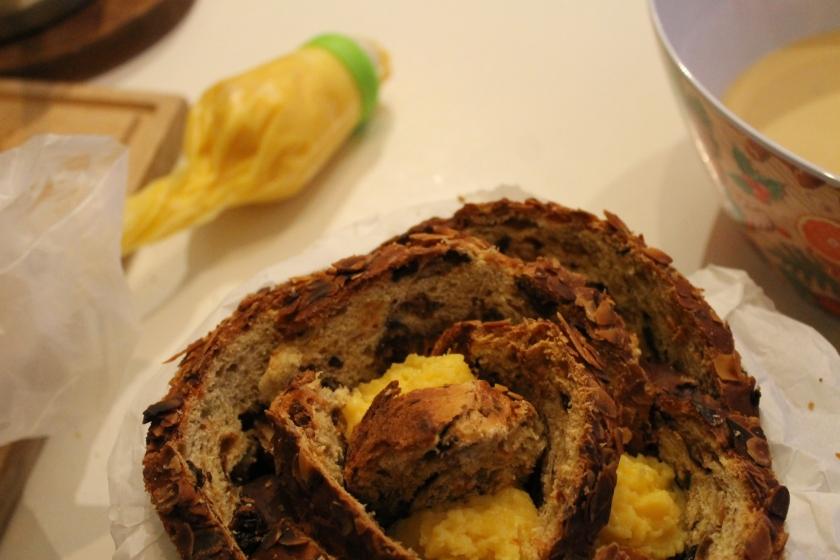 bread pudding-vanille pudding