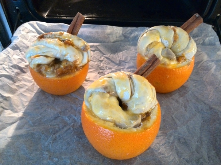 stuffed orange-oven