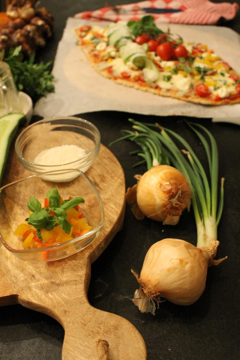 vegetarian pizza-lente uien
