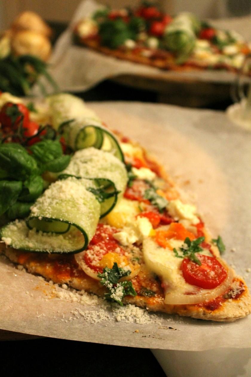vegetarian pizza-dubbel