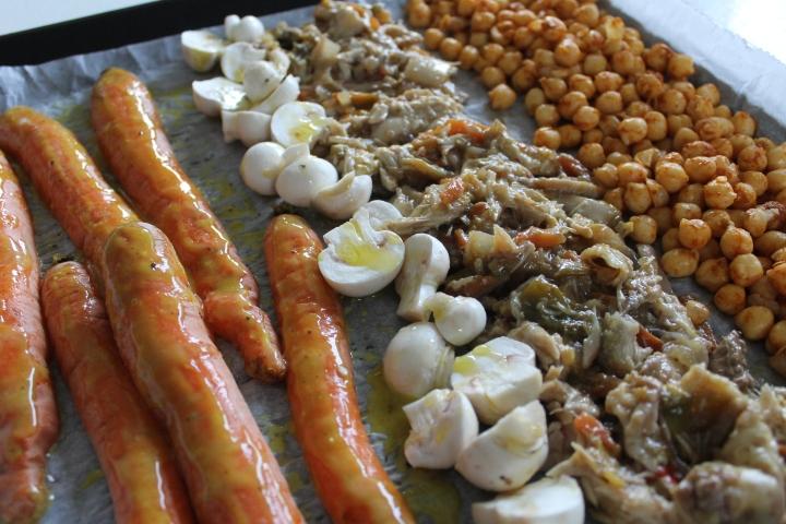 white beans dip-groenten