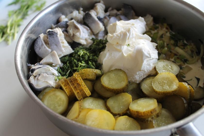 creamy herring-alles in de koekpan