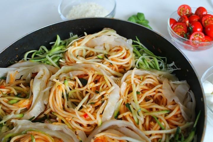 vegetarian pasta-cabbage-nesten