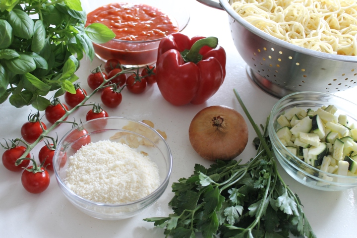 vegetarian pasta ingredients